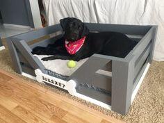 Large Custom Dog Bed 38x28x12 by HartmanWoodWorksCo on Etsy