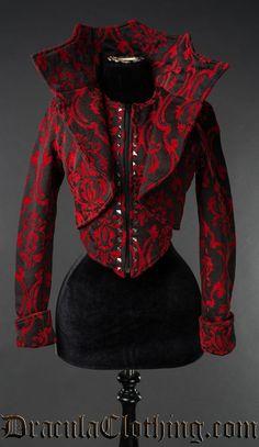 Red Brocade Evil Queen Jacket