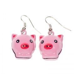 Jingling piggy earrings