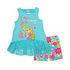 Disney Baby Cinderella Toddler Girl's Top & Shorts - Floral