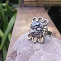@metalbye Sterling silver and black line #jasper Such a crazy-cool stone!