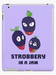Stealing strawberries in the middle of a robbery. Funny berry slogan gift. • Millions of unique designs by independent artists. Find your thing. Food Illustrations, Ipad Case, Strawberries, Slogan, Berry, Unique Gifts, Finding Yourself, Middle, Artists