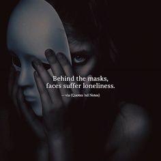 Behind the masks faces suffer loneliness. via (http://ift.tt/2lwKElu)