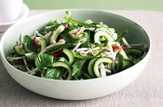 Thai chilli and cucumber salad with amazing dressing!