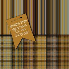 Instant Download Digital Papers Prim Autumn by CheriesArtsnCrafts