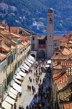 "old town in Dubrovnik, Croatia.Love Dubrovnik, Croatia and would go back in a ""heart beat""! Places Around The World, The Places Youll Go, Travel Around The World, Places To See, Around The Worlds, Montenegro, Wonderful Places, Beautiful Places, Beautiful Beautiful"