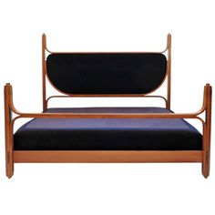 Spectacular Arch. Fulvio Raboni Double Bed for Delitala | From a unique collection of antique and modern beds at https://www.1stdibs.com/furniture/more-furniture-collectibles/beds/