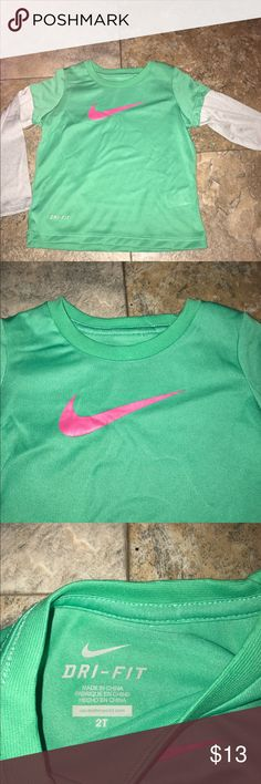 Nike girls dry fit shirt nwt 2T New with tags Nike girls dry fit shirt size 2T Nike Shirts & Tops Tees - Long Sleeve