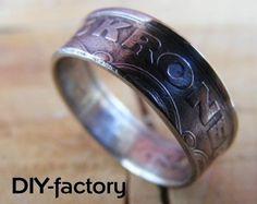 Ring aus 5 Kronen Münze ca. 21mm Handarbeit von DIY- factory auf DaWanda.com