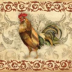 Toile Rooster I Canvas Art - Gregory Gorham (24 x 24)