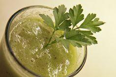 Green Smoothie: Kiwi-Gurke Vegan Smoothies, Kiwi, Hummus, Blog, Ethnic Recipes, Desserts, Green Smoothies, Meal, Rezepte
