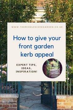 How to make your front yard or garden look gorgeous - front garden ideas inspired by your home #middlesizedgarden Front Gardens, Small Gardens, Garden Privacy Screen, Low Maintenance Garden Design, Evergreen Hedge, English Country Gardens, Colorful Garden, Garden Gates, Garden Styles