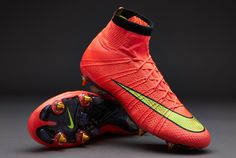 Nike Football Boots - Nike Mercurial Superfly SG Pro - Soft Ground - Soccer Cleats - Hyper Punch-Gold-Black