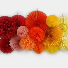 Rainbow party DIY backdrop - Add color and texture to any party with tissue poms, honeycomb balls, and tissue fans! | Just Artifacts #backdrop