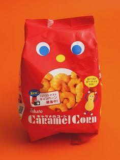 Japanese packaging for Caramel Corn snack