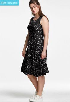 Plus Size Sale, Curvy Plus Size, Plus Size Dresses, Plus Size Outfits, Dresses For Work, Full Figured Women, Woman Within, Comfy Dresses, Knit Dress