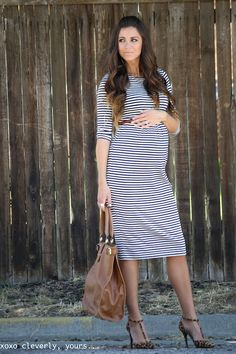xoxo cleverly, yours. It's still possible to look good when pregnant. This outfit is great.