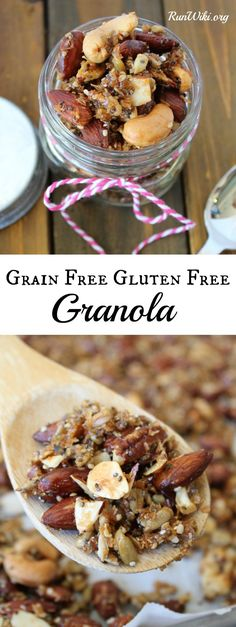 Homemade Grain free, gluten free, and vegan this healthy breakfast is packed with protein, fiber, omegas, and no refined sugars. Great Pre or post workout / run meal