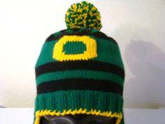 SOLD - Oregon Ducks ear flap hat