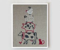 French cross stitch patterns : Pyramide de la by thecottageneedle