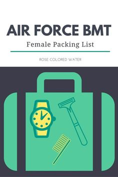 Air Force Basic Training Packing List for Women #airforce #basictraining