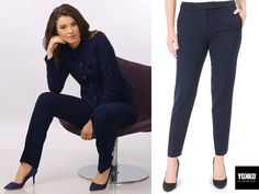 FRESH TIME, elastic fabric pants  YOKKO   fall16  #pants #trousers #officeoutfits #fall #yokko #fashion