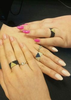 Beading rings. Find me on Facebook.com/PannaNaika