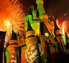Happy Hallowishes, the fireworks show during Mickey's Not So Scary Halloween Party at the Magic Kingdom, Walt Disney World