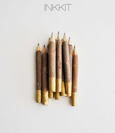 gold dip twig pencils | via IHOD Gift Guide http://inhonorofdesign.blogspot.com/2012/11/ihod-holiday-gift-guide-2012.html