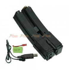 Battleaxe Electric Drum 650RD MP5 Airsoft AEG Auto-Winding Magazine