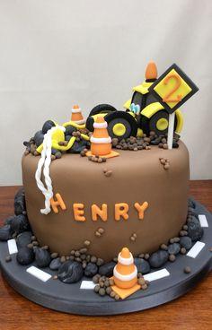 Digger Birthday Cake
