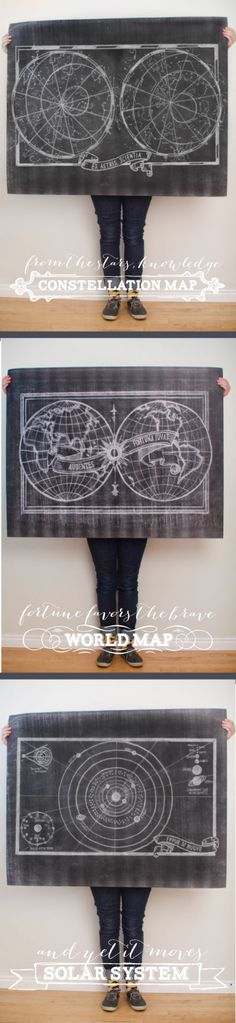 $5 Printable Chalk Maps by Caravanshoppe.com