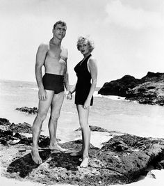 "Burt Lancaster with Deborah Kerr for ""From Here To Eternity"" (1953)"