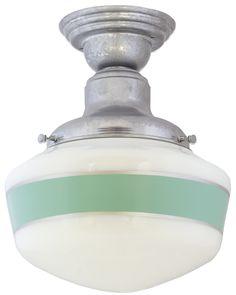 Intermediate Schoolhouse Semi-Flush Light   Barn Light Electric
