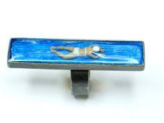 Resin ring resin jewelry Swimmer resin by GoldFingerBarcelona, $28.00