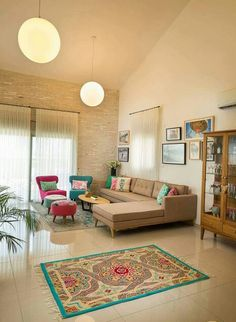 The Best Indian Home Decoration Ideas For Your New Home - Indian Living Room Design Ideas, Inspiration & Images Living Room Sofa Design, Home Room Design, Living Room Interior, Home Living Room, Home Interior Design, Living Room Designs, Living Room Decor, Living Room Ideas, Interior Decorating