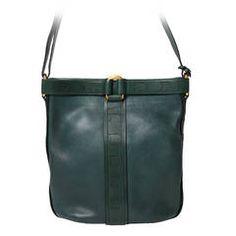 6844362b6e7244 Delvaux Dark Green Shoulder Bag Green Shoulder Bags, Vintage Handbags, Bag  Sale, Handbag