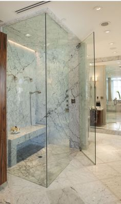 Photo On Dreaming of a master bath with amenities on par with those at your favorite spa These bathing beauties boast fabulous features like steam showers
