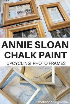 Annie Sloan chail paint old ochre upcycling photo frames diy