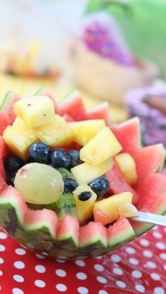 Fruits in watermelon