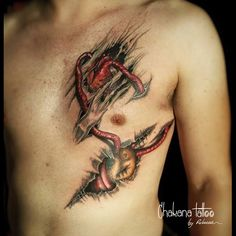 Realistic heart under skin tattoo #seeking ForMoreInk @chakanatattoo