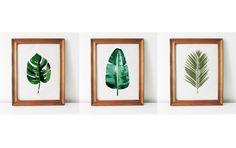 Botanical cross stitch - Tropical leaves
