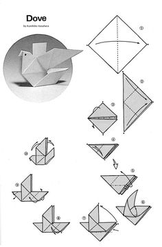 How+to+Make+Origami+Doves | for folding an origami dove materials 2 sheets of square origami ...: