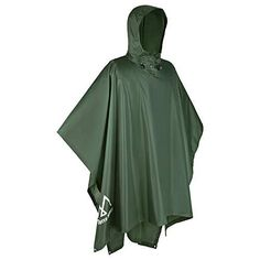 Terra Hiker Waterproof Rain Ponchos, Hiking Rain Jackets, Reusable Rain Coats for Outdoor Activities 3-IN-1 RAINCOAT: Multi-use poncho is specially designed for outdoor activities; can be used as a mountaineering raincoat, or a mat for hiking, picnics, fishing and more STRENGTHENED WATERPROOF FUNCTION: Made from 210T high density polyester fabric that's PU3000MM waterproof; seam-sealed and fully waterproof EASY AND CONVENIENT: Roomy back is able to accommodate a large capacity backpack of up to Poncho Raincoat, Rain Poncho, Blue Army, Army Green, Rafting, Coat Outfit, Sports Nautiques, Hiking Jacket, Burberry Trench