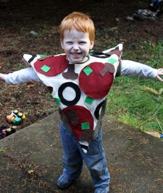 """Make a Pizza Costume (E's 2012 Halloween Costume) """"Just found Kellen Halloween Custome only it will pep and sausage."""" NJ"""