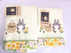 My Neighbor Totoro Face & Hand Towel 2 Piece SET Cotton 100% Ghibli 10072 Towels