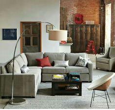 Corner sofa & oversized lamp