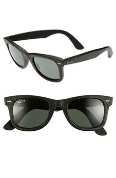 Leather wrapped Ray-Bans..awesome!