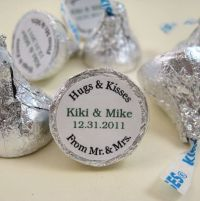 Hugs and Kisses Personalized Hershey Kisses Label Sticker