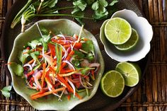This side salad starring colourful fresh vegetable strips is effortless to make.